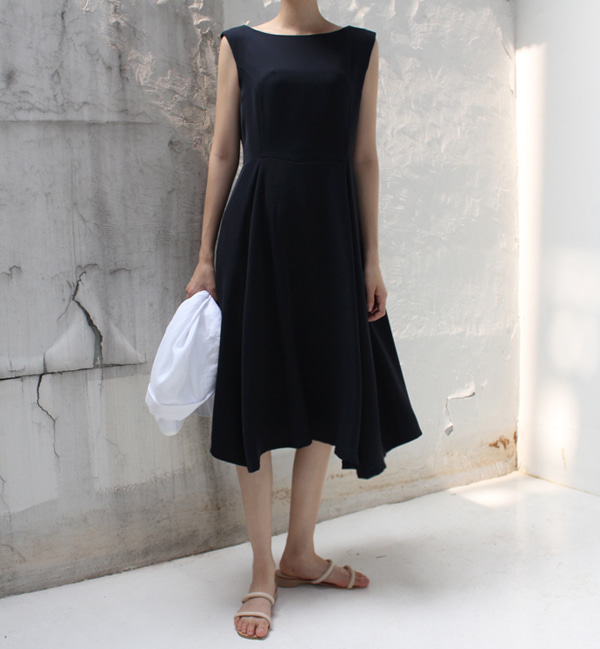17SUMMER BOAT NECK DRESS - 2TYPE