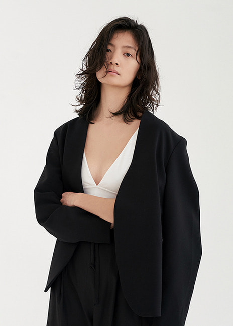 18SS PLAIN SUIT JACKET - BLACK