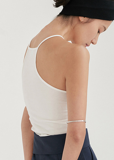 18SS CROP SLEEVELESS - IVORY